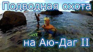 Подводная охота на Аю-Даг Медвежья гора Крым часть 2 HD GoPro