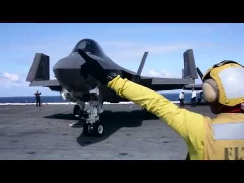 US Navy Test Pilots Fly the F-35 Fighter at Sea on Aircraft Carrier – AINtv