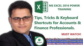 Learn Excel in Urdu - Excel 2016 Keyboard Shortcuts - Tips Tricks for Accounts Finance Professional