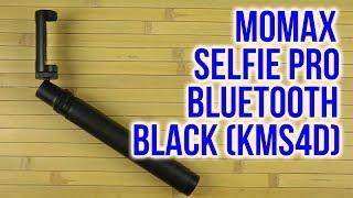 Распаковка Momax Selfie Pro Bluetooth Selfie Pod 90 см Black KMS4D