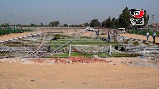 «مجلس المدينة» يزيل ملعب «سعيد مراد» بعد بنائه على أرض زراعية بكفر الشيخ