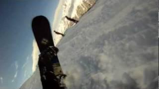 Snowboard Mont Blanc Area GoPro HD