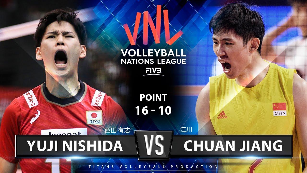 Yuji Nishida vs. Chuan Jiang | Japan vs China | FIVB Volleyball Nations League