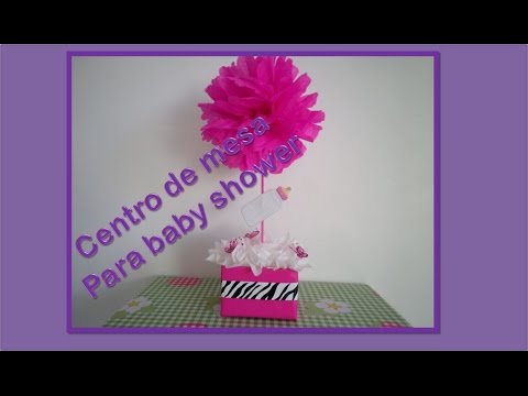 DIY centro de mesa BABY SHOWER (decoracion)