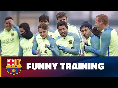 FC Barcelona's funny training session mix