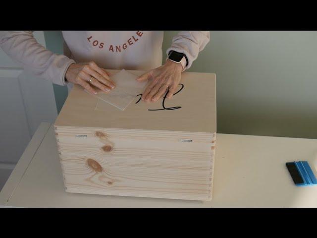 DIY - Herinneringskist met naam maken
