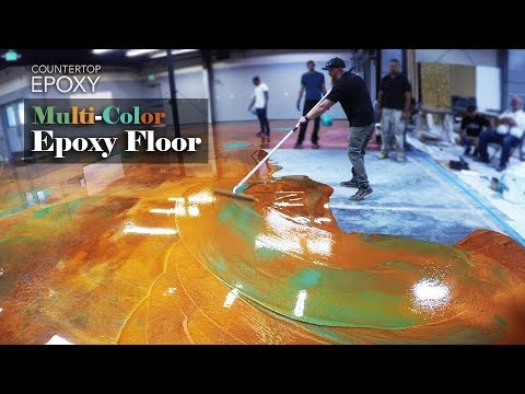 Multi-Color Epoxy Floor | How To