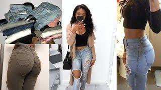 HYPE on Fashion Nova Jeans? HUGE FASHION NOVA JEAN HAUL | Blasianmanda