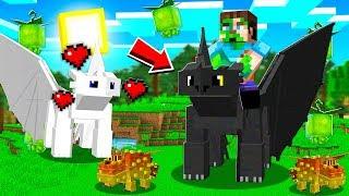 FINDING a NIGHT FURY in my Minecraft WORLD!