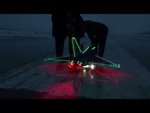RC JET CARF Eurosport Night flight / Ночной полет Евроспорта