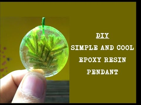DIY: Epoxy Resin Pendant..Easy and Cheap..