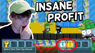 SELLING 1500+ ATMs!! *insane profit* | Growtopia