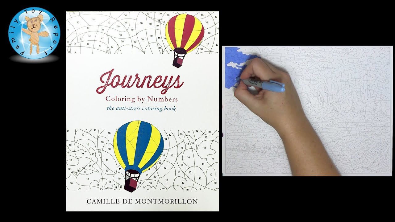 Journeys Coloring By Number Adult Book Speed Color