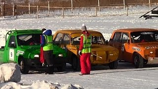 █ Ипподромные гонки г.Тюмень 7.02.2014 (машины, соревнования).