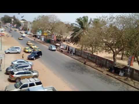 Gambia - Kairaba Avenue Towards Westfield Junction. 16 May 2017