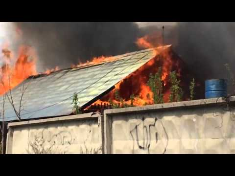 Петропавловск.Пожар в рабочем 7.05.2016
