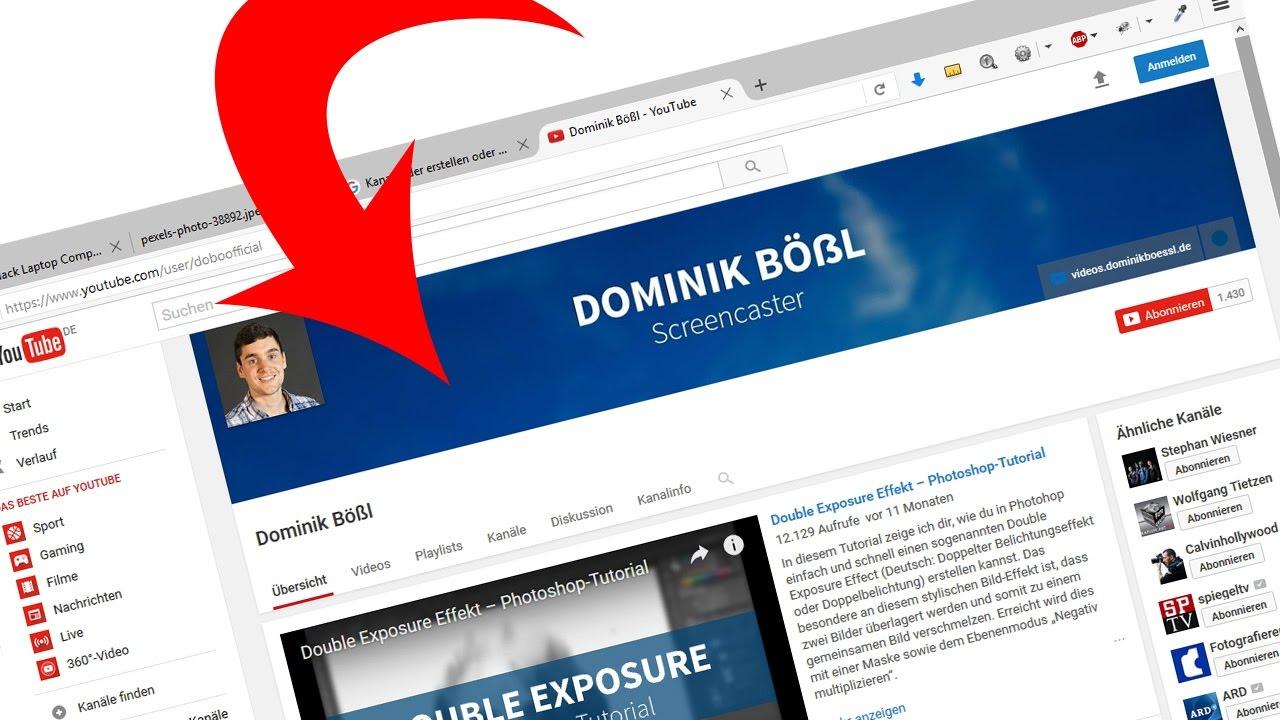 YouTube Kanalbild/Kanalbanner erstellen (mit Template/Vorlage ...