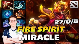 Miracle FIRE SPIRIT Zero Death Plays Dota 2