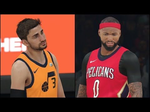 "NBA 2K18 Gameplay New Orleans Pelicans vs Utah Jazz (Alternate ""Statement"" Uniforms)"