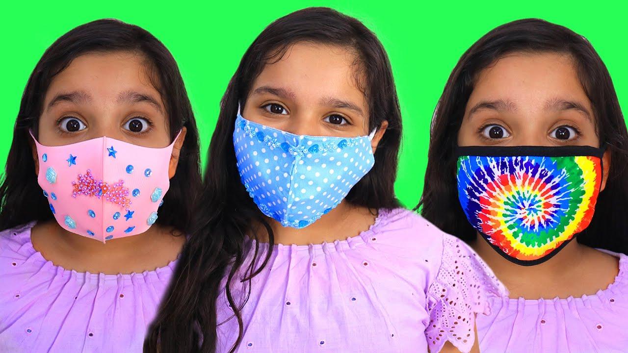 شفا خيطت كمامات !!! Shfa sews beautiful masks for friends