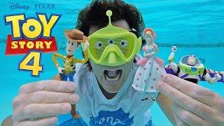 Toy Story 4  Swim Mask & Pool Toys ! || Disney Toy Review || Konas2002