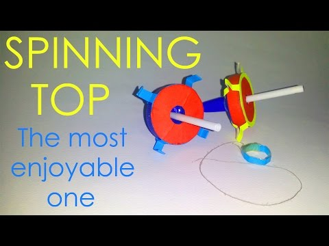 How to make a great spinning top by simple materials - Vyouttar Origami-