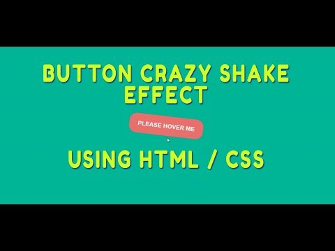 Button crazy shake effect using HTML / CSS & jQuery thumbnail