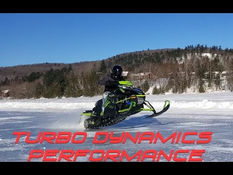 TD trail sleds and races launches hard on ice and top speed video