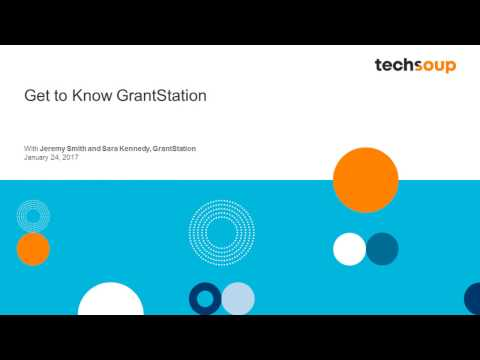 Webinar - Get to Know GrantStation - 2017-01-24