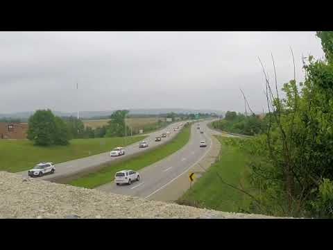 *Exclusive* New Jersey and Pennsylvania State Police Procession For Fallen NJ Trooper Brian McNally