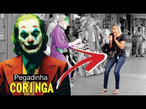 CORINGA - PEGADINHA  ASSUSTANDO PESSOAS