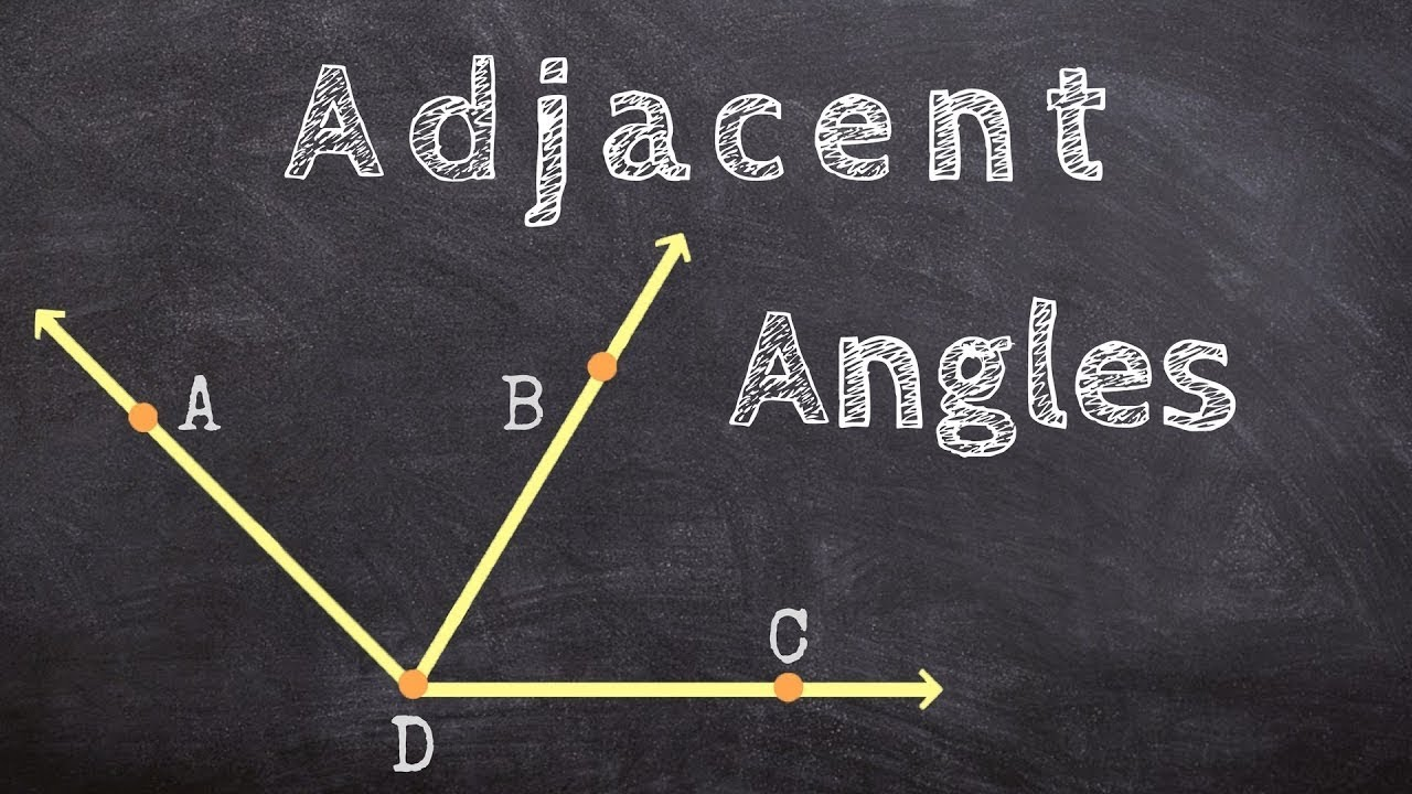 What are examples of adjacent angles