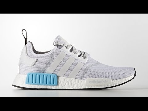 424b140a5 Adidas NMD Grey White Cyan-Blue Review - YouTube
