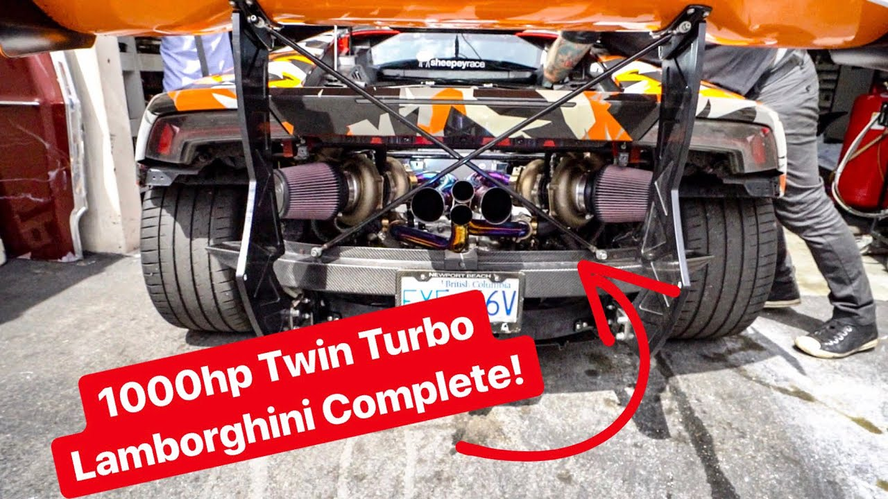 FINISHED REBUILDING MY LAMBORGHINI WITH TWIN TURBOS! *1000 HP*