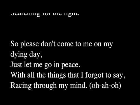 City and Colour - Body in a Box (lyrics)