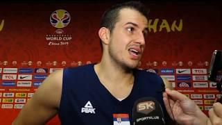 Nemanja Bjelica posle pobede nad Italijom u 3. kolu Svetskog prvenstva   SPORT KLUB KOŠARKA