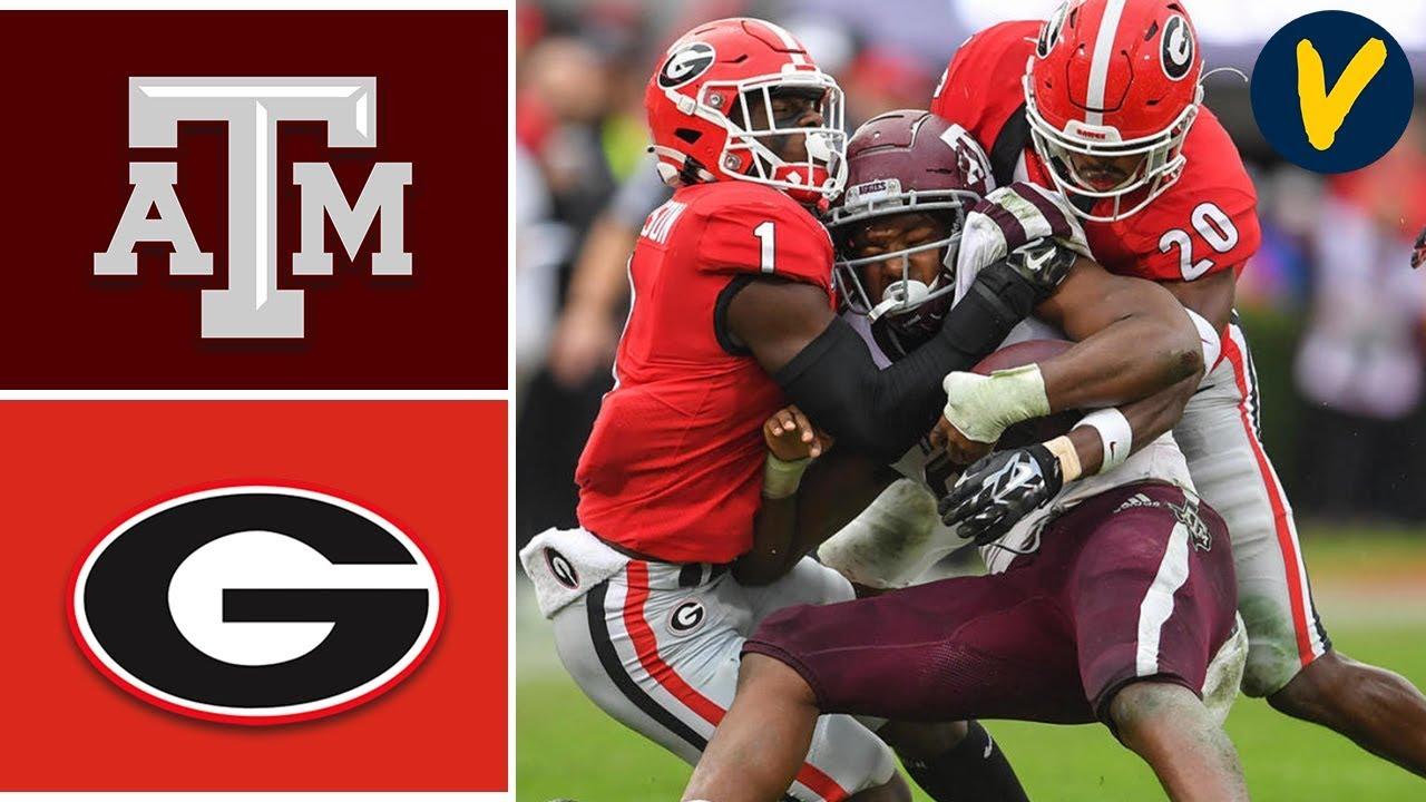 Texas A&M vs #4 Georgia Highlights | Week 13 | College Football 2019