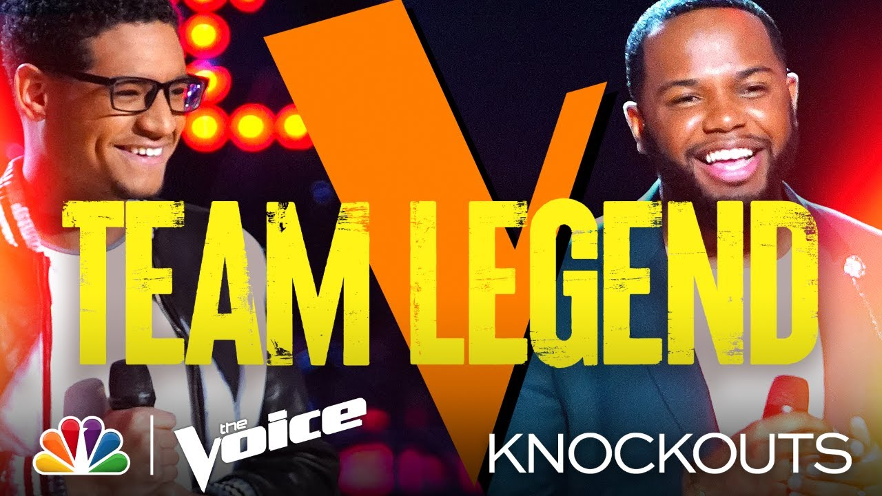 Team Legend's Victor Solomon and Gean Garcia Go Head to Head - The Voice Knockouts 2021