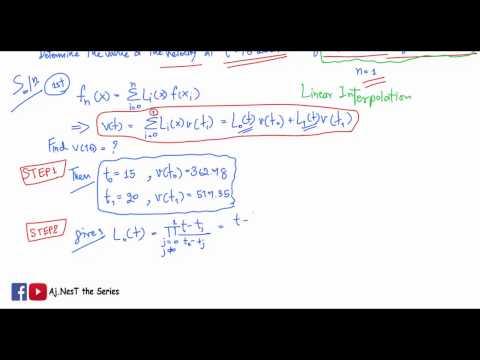 แนวข้อสอบ Lagrange Interpolation - Exercise 3 : The First Order Lagrange Polynomials Interpolation