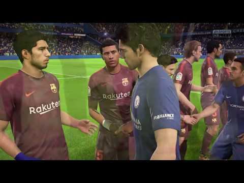FIFA 18 Barcelona vs Chelsea UEFA Champions League Stamford Bridge Stadium