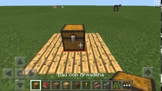 Trap com baú de armadilha no minecraft 0.13.0