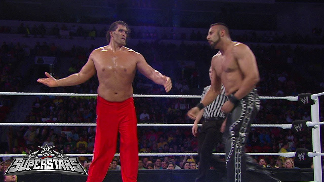 The Great Khali vs. Jinder Mahal: WWE Superstars, August 9 ... The Great Khali Vs Hornswoggle