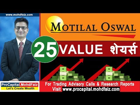MOTILAL OSWAL  25 VALUE शेयर्स   Latest Stock Market Recommendations   Latest Share Market Tips