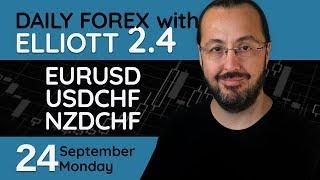 EURUSD, USDCHF, NZDCHF - Forex Trade Setups (24 September 2018)