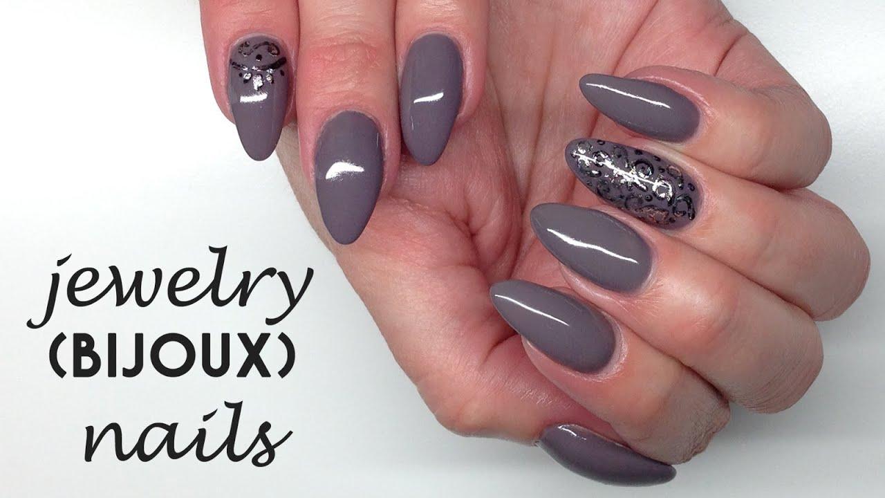 Nail Art Jewelry / Bijoux Nails / Biżu (Paint Gel + Silver Foil ...