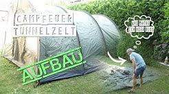 CampFeuer Zeltaufbau Familienzelt Gruppenzelt Zeitraffer