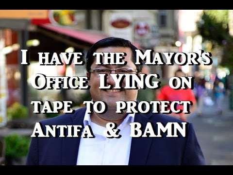 I Have the Mayor's Office LYING on Tape to Protect Antifa & BAMN