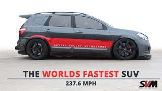 THE WORLDS FASTEST SUV - SVM Nissan Qashqai-R '2000HP' - 237.6MPH! (WORLD SUV TOP SPEED RECORD)