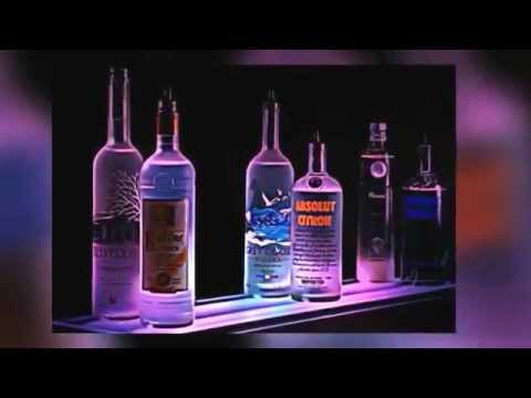 Led Lighted Liquor Bottle Display Shelves For Restaurant