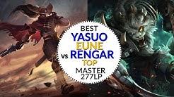 Best Yasuo EUNE by Lolskill.net vs RENGAR TOP LANE Haklberryfinn 15/2/5 Master 1 277 LP 6.9